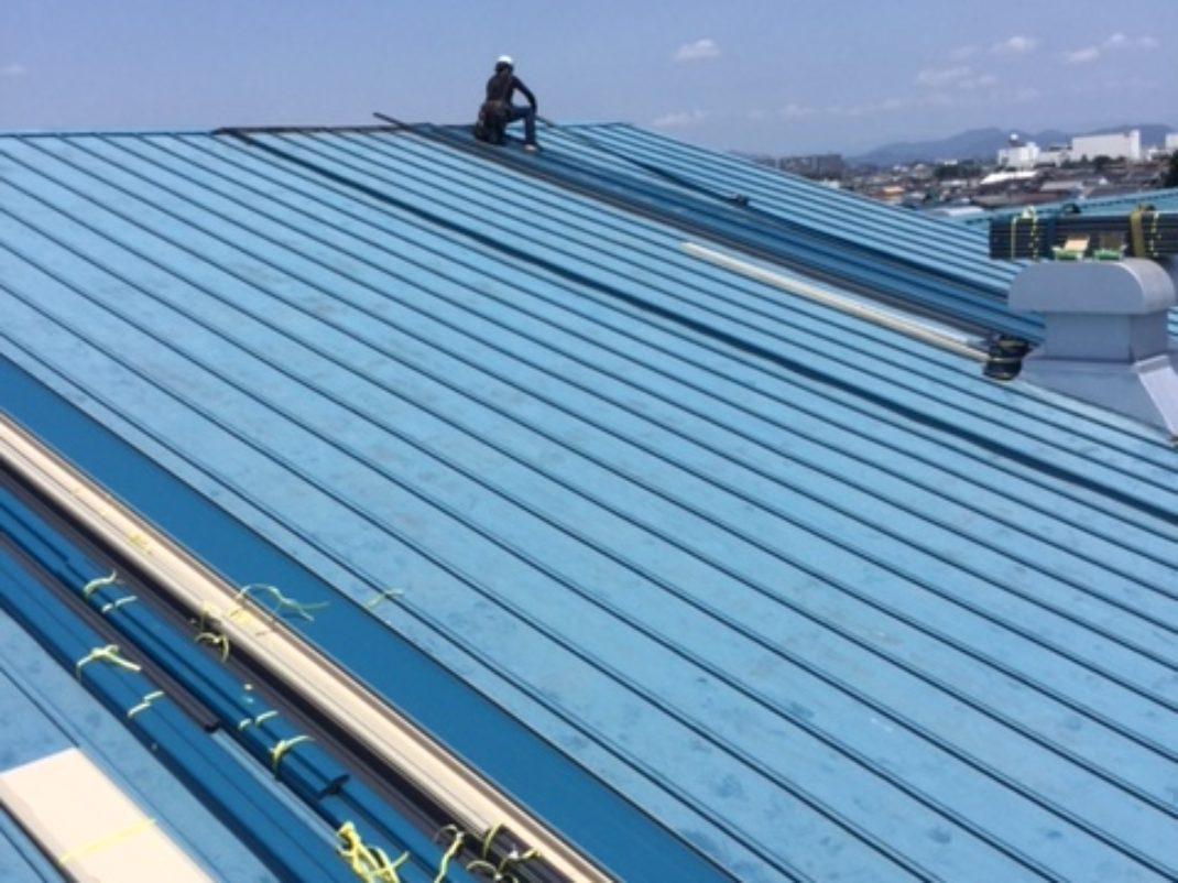 S工場屋根 作業写真